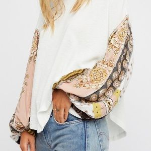Free People Blossom Thermal Rose /Cream XS